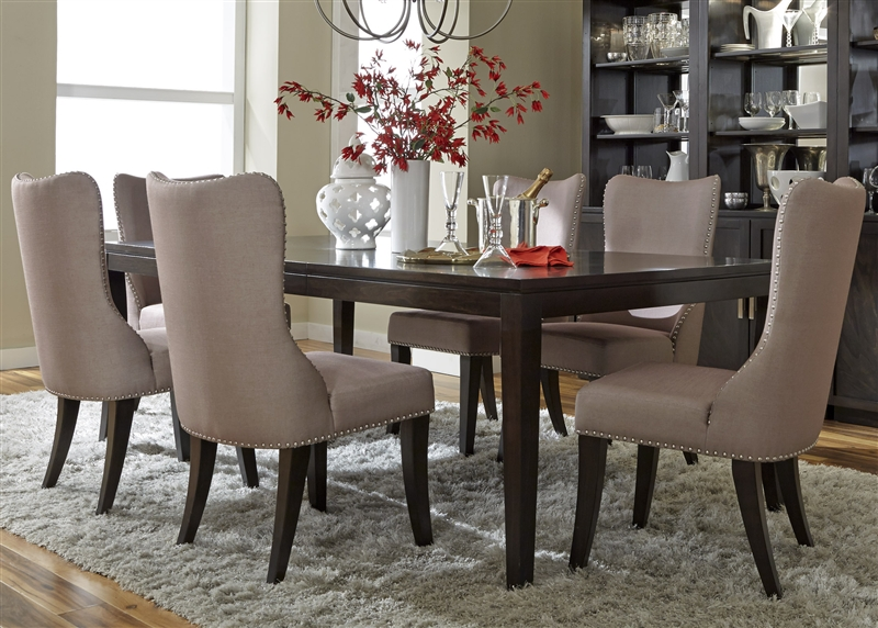 liberty dining chairs mesh chair accessories platinum 7 piece set in satin espresso finish by furniture larger photo