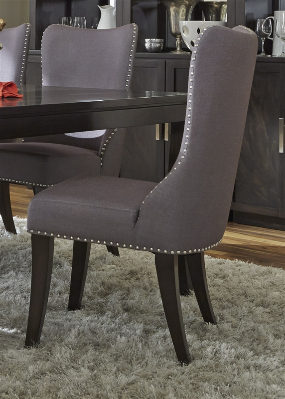 liberty dining chairs unusual chair uk platinum 7 piece set in satin espresso finish by furniture - 861-dr-7rls
