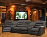 Bardi Theater Seating - 5 Piece Espresso Home Theater ...