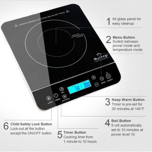 Features of Duxtop portable induction cooktop