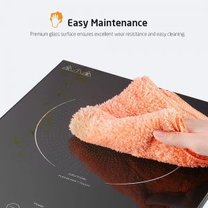 cleaning an induction cooktop