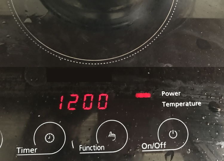 induction cooktop temperature guide