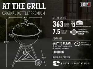 Weber charcoal features