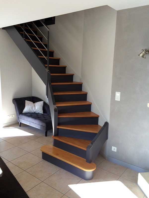 Escalier Repeint Orvault Peintre Dcorateur HomeColor