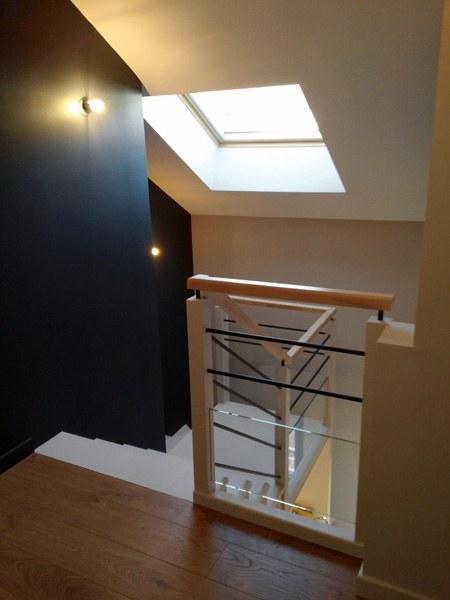 Peinture dune cage descalier  Appartement  Quai de