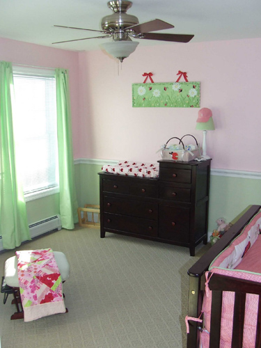 how to install chair rail free plans for building adirondack chairs baby girl nursery with - home construction improvement