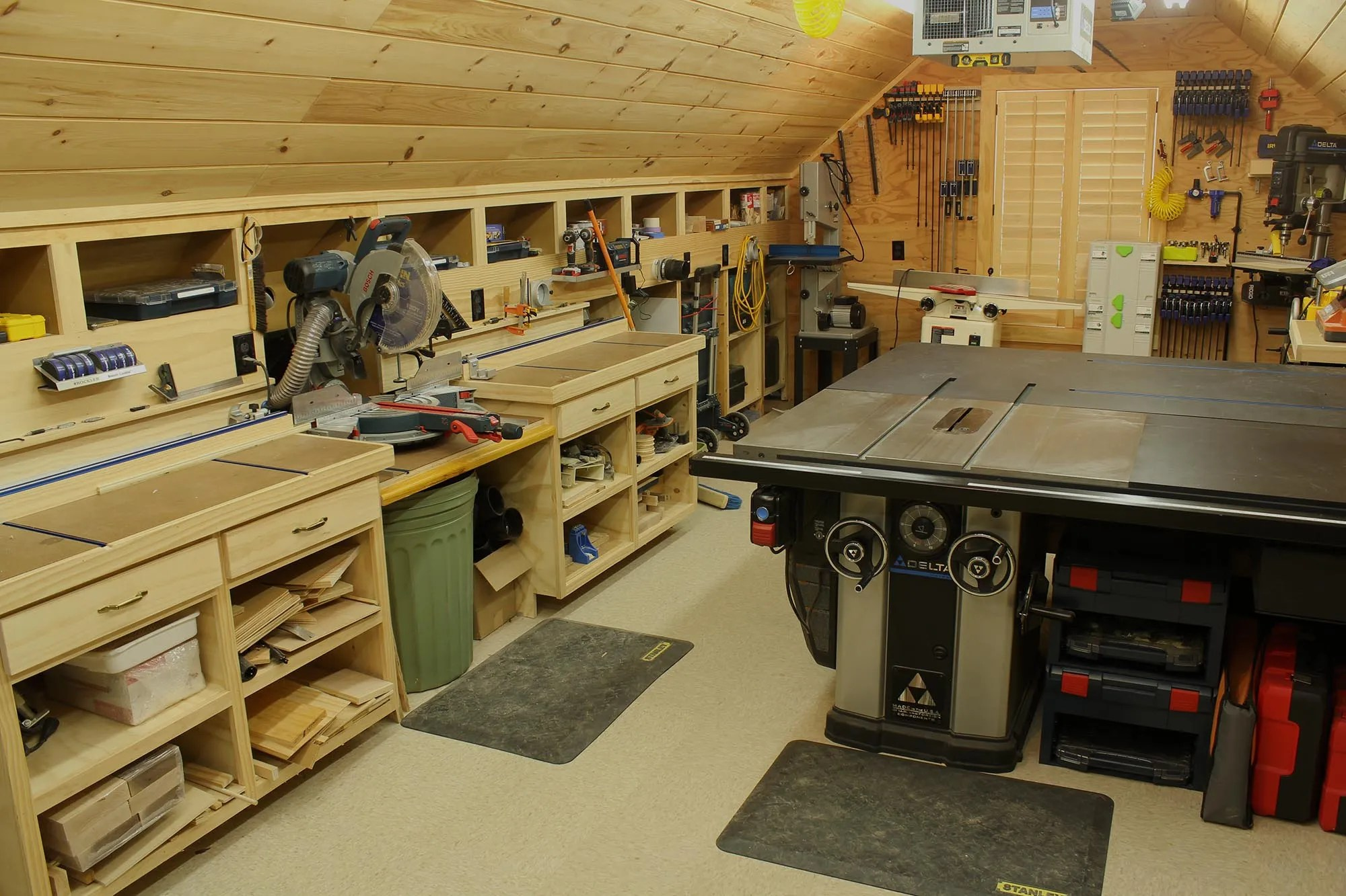 hight resolution of woodshop general view left side