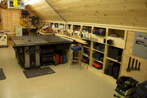 small resolution of woodshop general view right