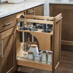 Pantry Kitchen Mini Kitchens Pullout Cabinet With Knife Block - Homecrest