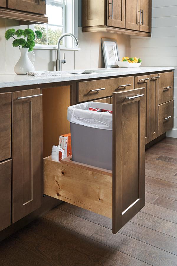 Base Wastebasket Full Height Cabinet  Homecrest