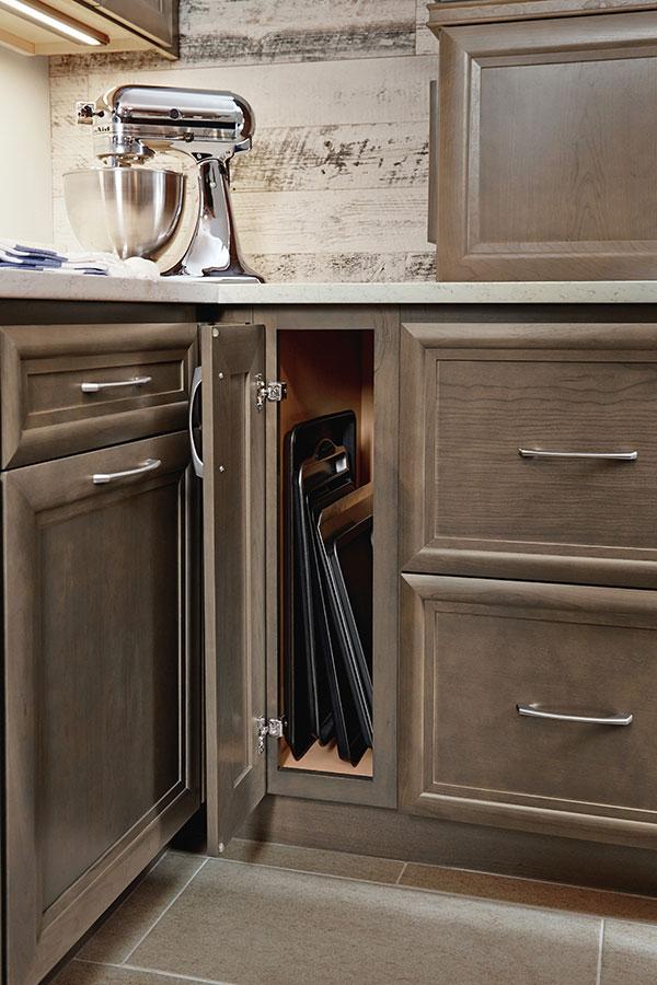 9 Inch Full Height Base Single Door Cabinet  Homecrest