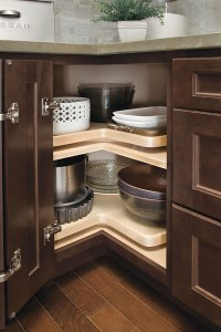 Super Lazy Susan Cabinet with Wood Shelf  Homecrest