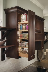 pull down spice rack homecrest cabinetry