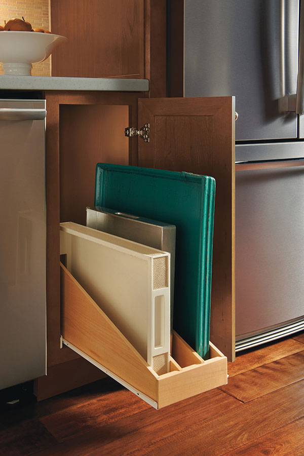 Roll Out Tray Divider  Homecrest Cabinetry