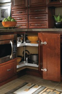 Super Lazy Susan Cabinet with Wood Shelf  Homecrest