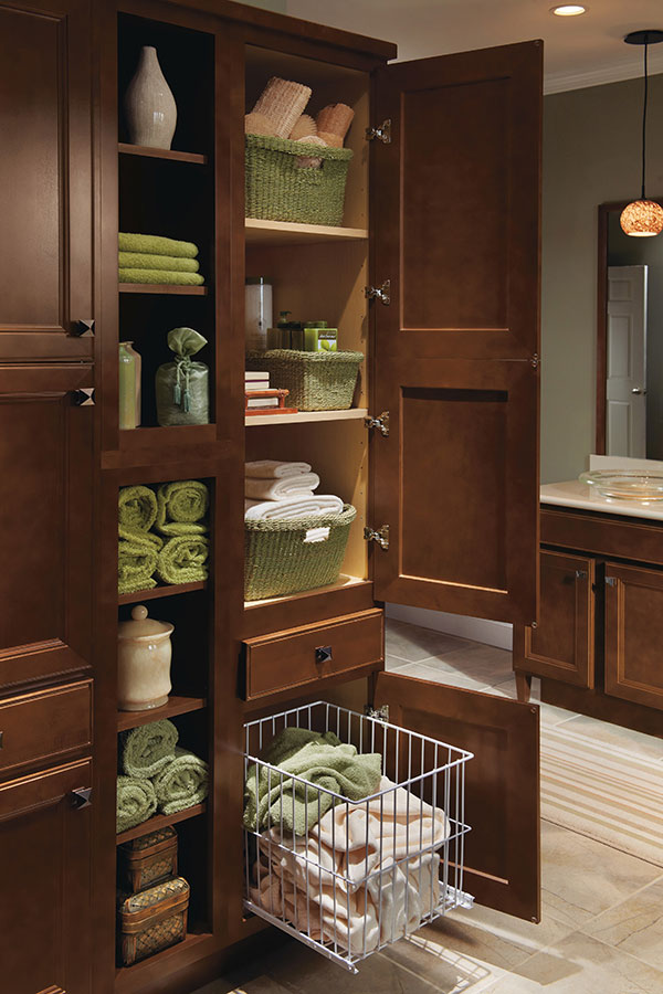 Linen Utility Cabinet with Hamper  Homecrest