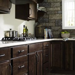 Rustic Kitchen Cabinet Cherry Wood Cabinets Homecrest Cabinetry