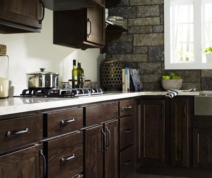 rustic kitchen cabinet big island cabinets homecrest cabinetry