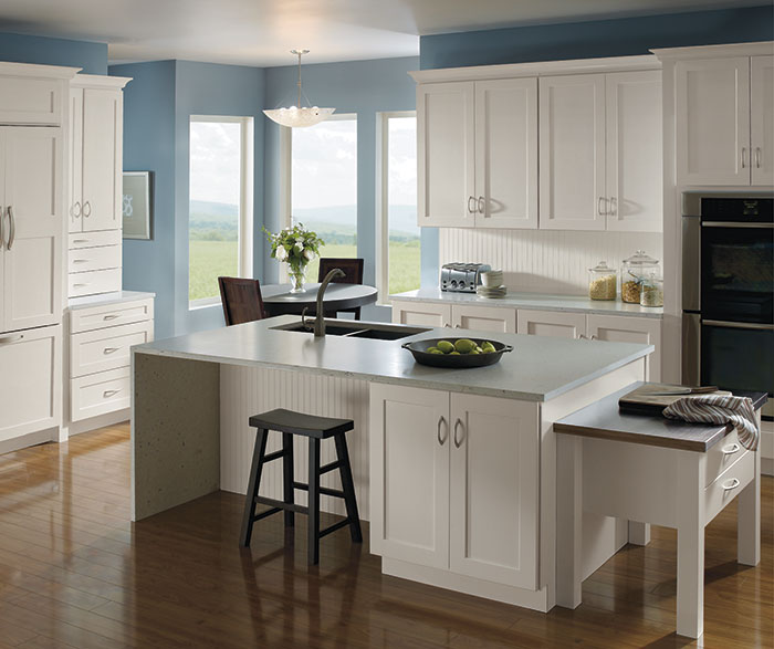 Kitchen with Painted Maple Cabinets  Homecrest