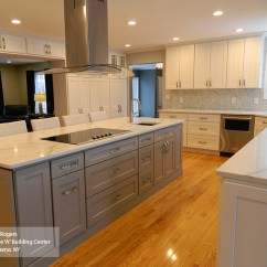 Shaker Kitchen Cabinets Sink 33x19 Painted Style Homecrest Cabinetry White And Gray