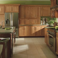 Oak Cabinet Kitchen Remodel Contractor Natural Cabinets Homecrest With A Dark Island