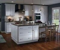 White Thermofoil Kitchen Cabinets Homecrest