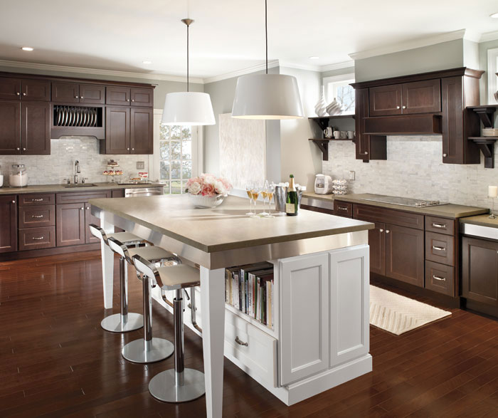 kitchen island cabinet displays for sale dark cherry cabinets with homecrest hershing a large white