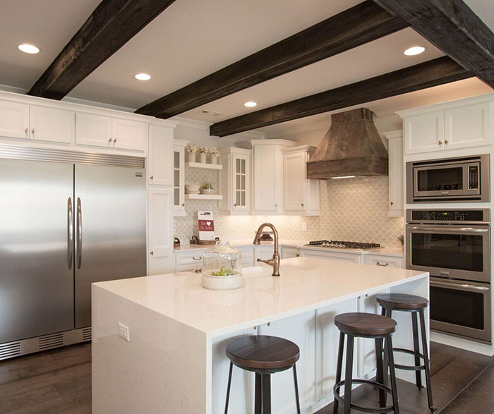 kitchen cabinet design tool floating island alpine white maple cabinets - homecrest cabinetry