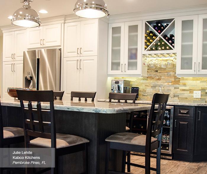 off white kitchen cabinets bridal shower with island homecrest montella in french vanilla a dark buckboard