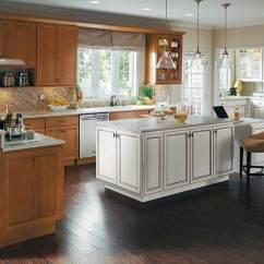 Kitchen Island Cabinet King Maple Wood Cabinets With White Homecrest Warm A