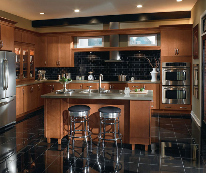 kitchen cabinets color extra large sink cabinetry finish photos homecrest contemporary maple by
