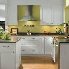 Shaker Kitchen Cabinets Cabinet Pull Handles Alpine White Homecrest Style By Cabinetry