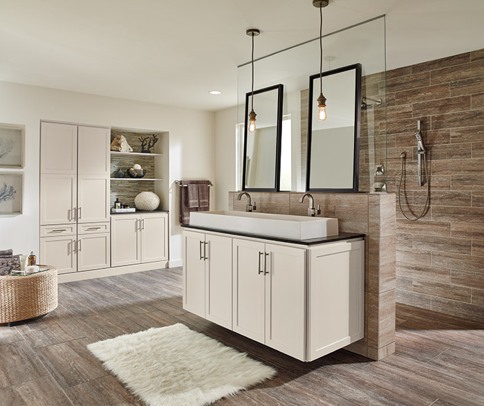 Off White Bathroom Cabinets  Homecrest