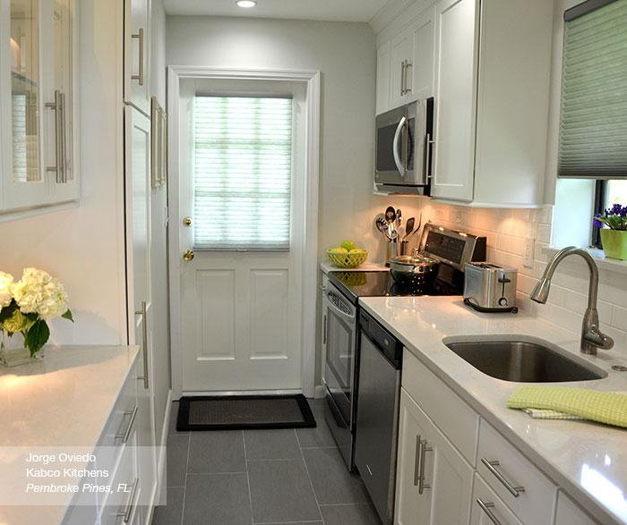 White Galley Kitchen Pictures