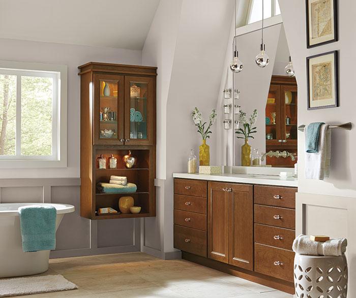 Contemporary Bathroom Vanity  Homecrest Cabinetry