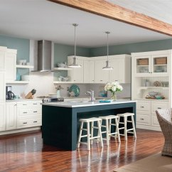 Blue Kitchen Island Exhaust Systems White Glazed Cabinets With Homecrest Alpine Cadet