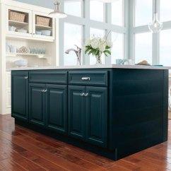Blue Kitchen Island Ikea Base Cabinets White Glazed With Homecrest Cadet