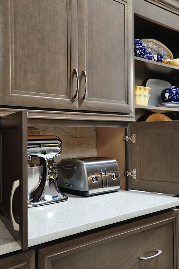 Wall Appliance Garage with Doors  Homecrest