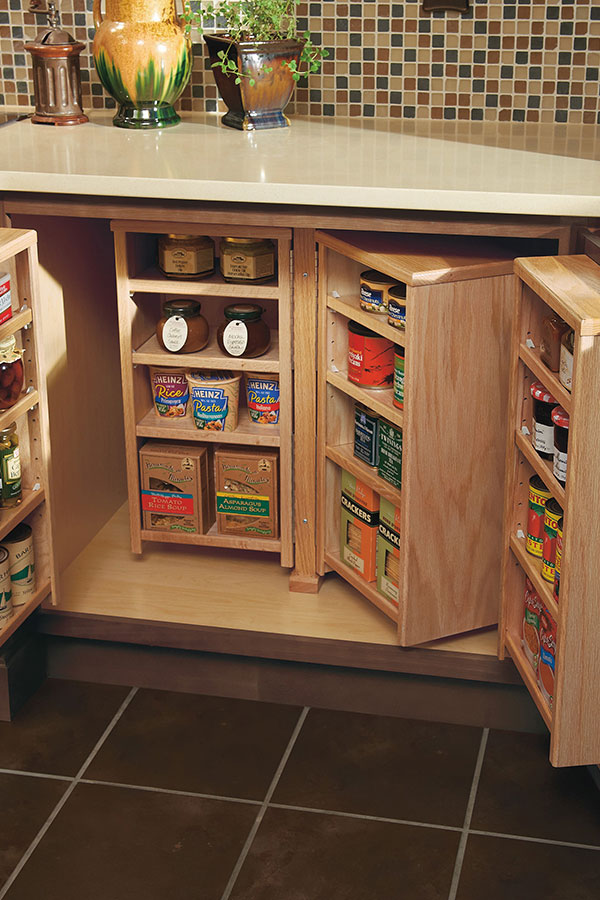 kitchen pantry shelves small square table base cabinet - homecrest cabinetry