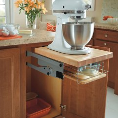 Kitchen Tray Garbage Can Mixer Lift Up Cabinet - Homecrest Cabinetry