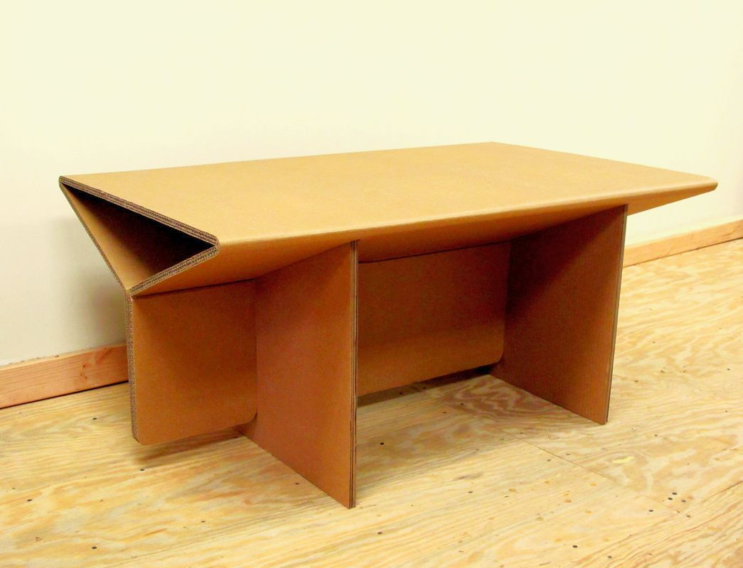 coffee table with chairs lexmod focus edge desk chair chairigami intros a range of cardboard furniture items