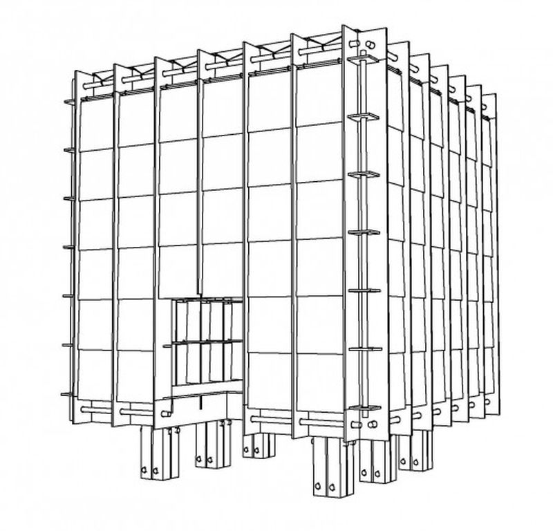 An emergency shelter that uses less than a cubic meter of