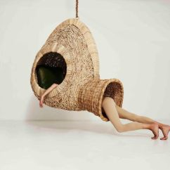 Hanging Wicker Egg Chair Tub For Elderly Porky Hefer's Life-size Nests Are Sculptural Chairs