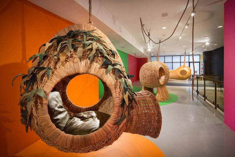 Porky Hefers lifesize nests are sculptural hanging chairs