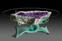 Beautifully designed geode tables by Lawrence Stoller