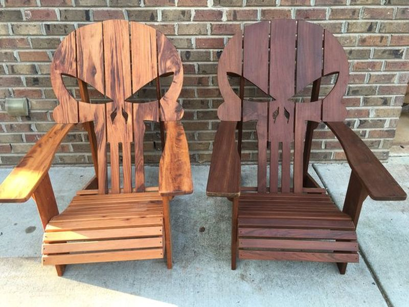 skull chair hanging design 13 badass chairs for a boo tiful halloween punisher by carolina wood designs