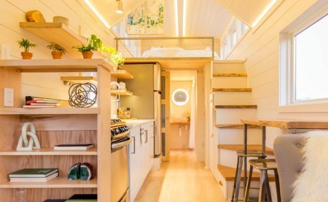 The Elsa Two Part Tiny Home With Its Own Mobile Porch And