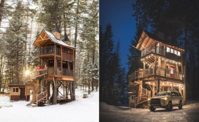 You Can Book This Treehouse Hotel In Montana On Airbnb