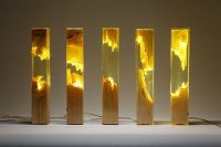Wood and Resin Lamps by Guideco Design (Interview)