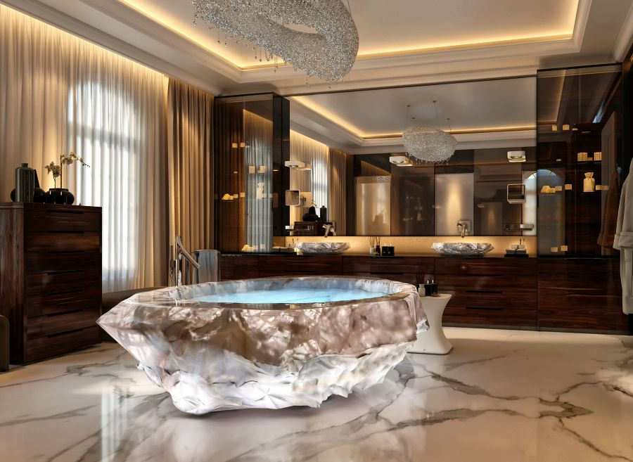 Dubais XXII Carat Villas Feature Baldis 1 Million Crystal Bathtubs
